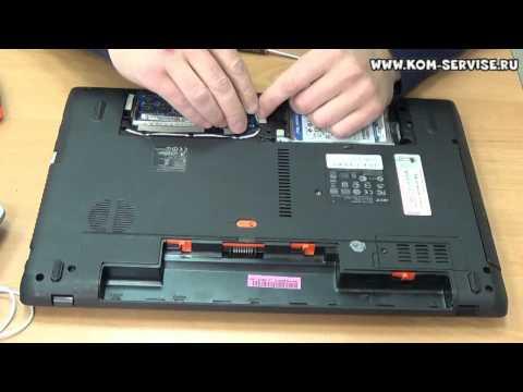 Как снять жесткий диск с ноутбука acer