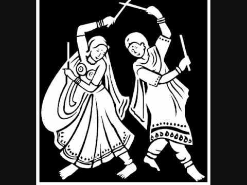 Clip Art Folk Dance Silhouette - Garba - Couple Transparent PNG