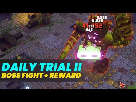Minecraft Dungeons Daily Trial II Boss Fight + Legendary Rewards