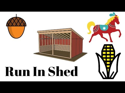 12x18 Run In Shed Plans