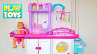 Baby Doll Nursery Care Toy Set! Play feeding  baby doll! 🎀 thumbnail