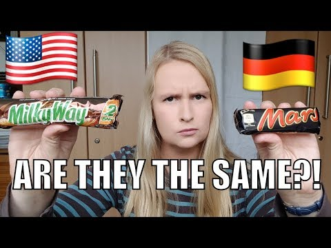 America VS Europe: Mars Bar, Milky Way, Snickers, 3 Musketeers - Are Mars Bar And Milkyway The Same?