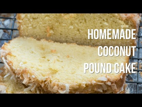 Homemade Coconut Pound Cake Loaf