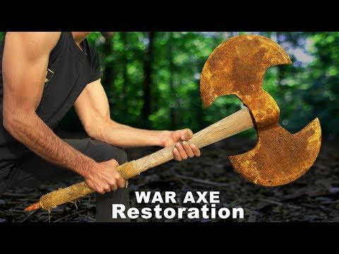 Antique WAR AXE - Impossible Restoration