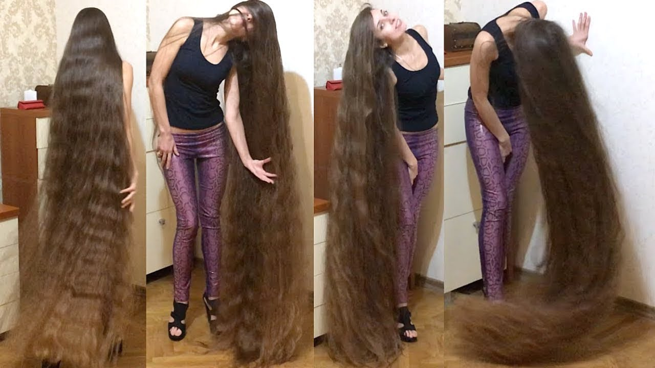 Realrapunzels High Heels And Floor Length Hair Extreme Hair Play