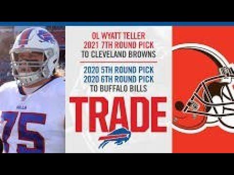 buy popular 496b2 0ee94 Buffalo Bills trade (OL) Wyatt Teller and a 2021 7th rx pick ...