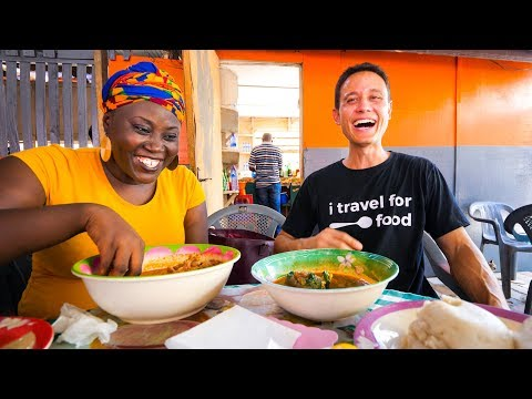 Street Food in Ghana - GIANT CHOP-BAR LUNCH and West African