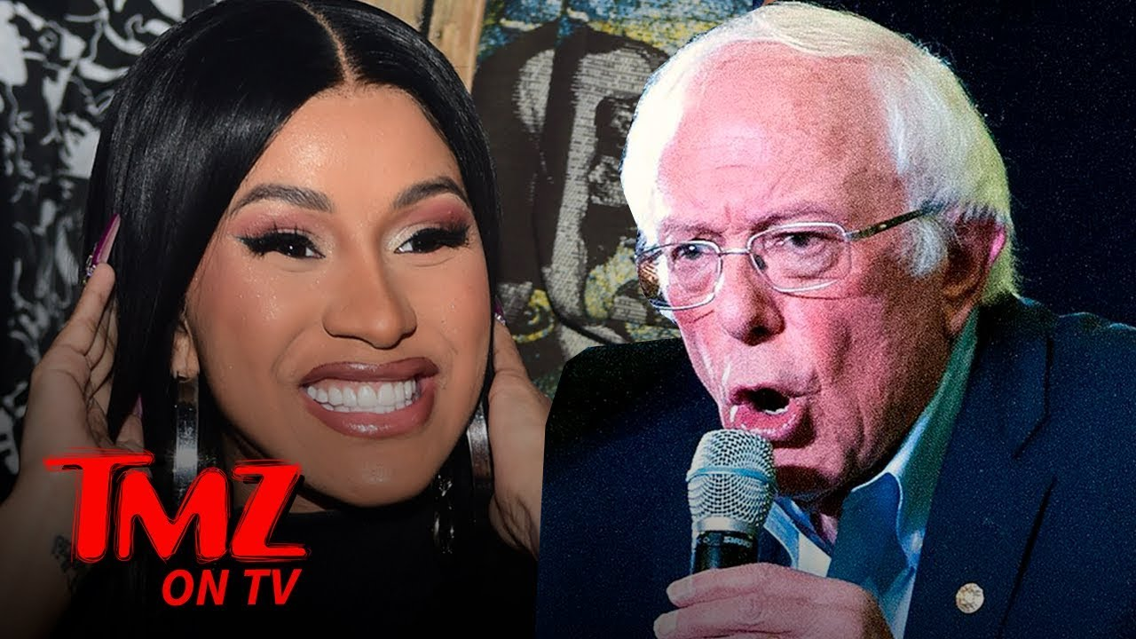 Cardi B & Bernie Sanders Trash Talk Donald Trump on Instagram Live   TMZ