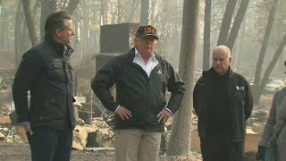 Trump Tours Ravaged Town Of Paradise After Deadly Camp Fire