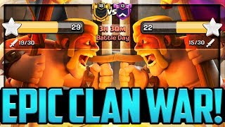 AN EPIC WAR! Clash of Clans Clan War League CONFRONTATION!