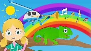 Colors of the Rainbow Song with Colin The Chameleon | Dr Poppy
