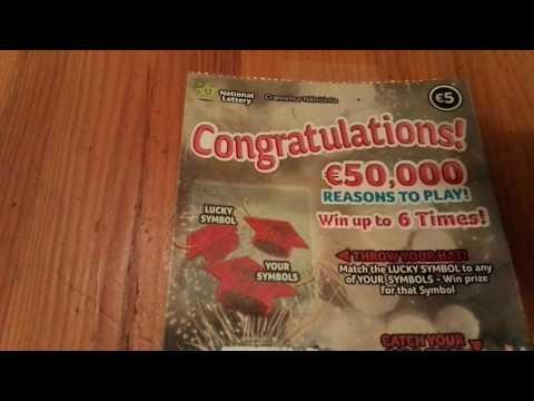 Irish National Lottery scratch card - Congratulations! - #297