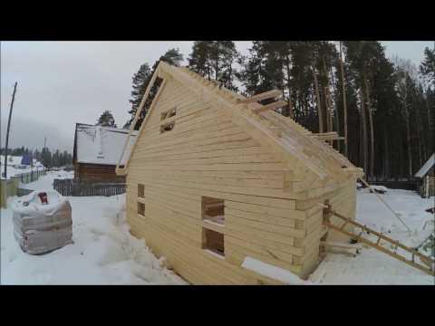 Нюансы приемки бруса Реальная высота этажа в доме из бруса, строим в Нытве, Пермский край