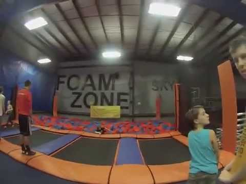 Skyzone Trampoline in Westlake, Ohio  Youth Group Montage with a Go Pro