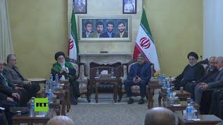 Líderes de Hezbolá lloran la muerte del general Soleimani en la embajada iraní