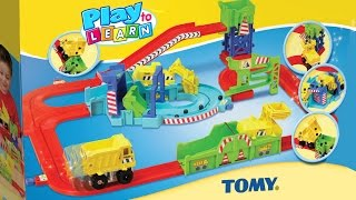Tomy Tractor Big Loader for Little Construction Workers Loads, Hauls, Scoops, Dumps