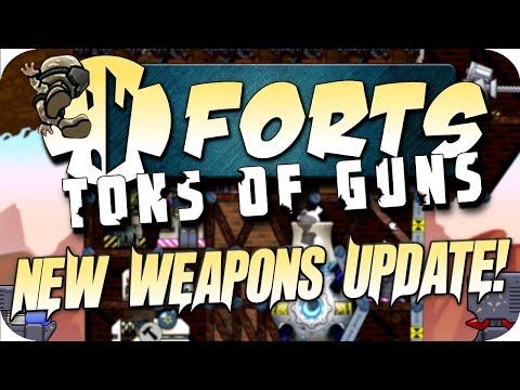 Forts Multiplayer Gameplay HUGE NEW UPDATE PREVIEW, Tons Of Guns, EMPS, Flak, New Cannons!