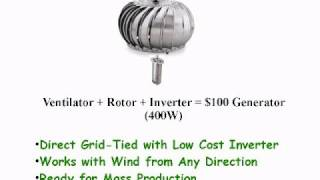 Google Project 10^100 - Vertical Axis Wind Turbine Generator