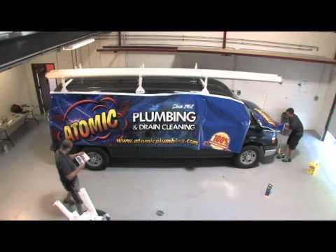 TradeWraps Atomic Plumbing Van Wrap