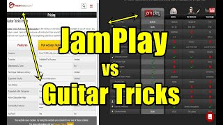 JamPlay vs Guitar Tricks   Learn How To Play Guitar Online