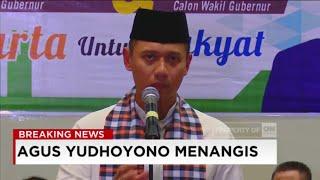 Agus Yudhoyono Menangis di Pidato Politik Pertama