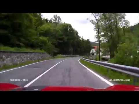 Kranjska Gora, Slovenia to Tarvisio, Italy, and on to Austria (Rollei CarDVR-110)