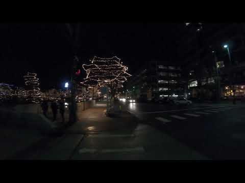 Walk Tour 4K, Gene Leahy Mall Holiday Lights, Omaha, Nebraska, USA (2018)