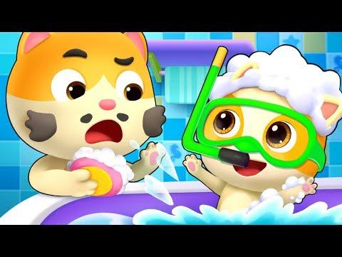 bayi-kucing-lucu-|-video-edukasi-anak-|-cintai-kebersihan-|-babybus-bahasa-indonesia