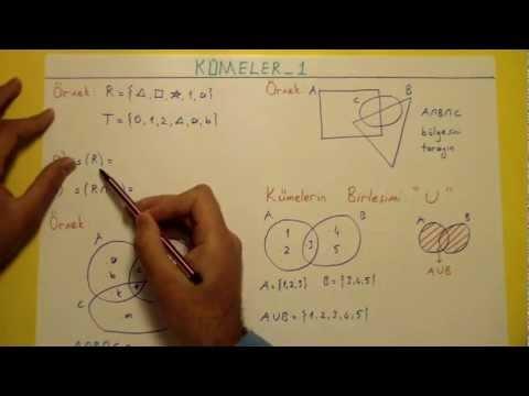 Kümeler 1 - şenol Hoca Şenol Hoca Matematik