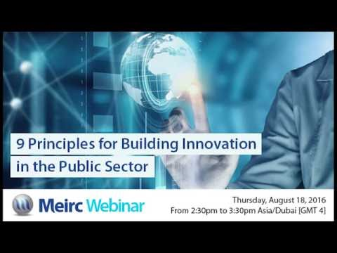 9 Principles for Building Innovation in the Public Sector | Public Relations | Dubai | Meirc