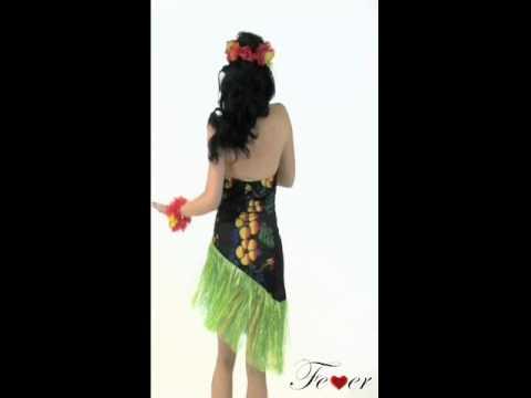 3271591cdbe Fever Luscious Luau Costume Video