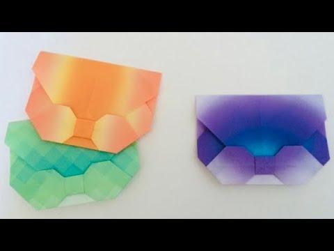 ハート 折り紙 かわいい手紙折り方リボン : youtube.com