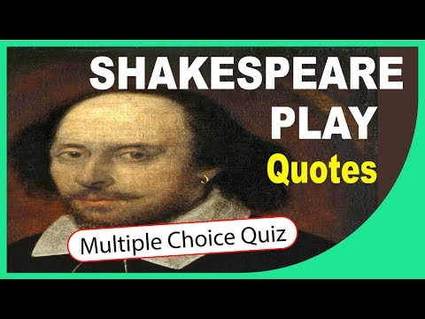 Q★ | Shakespeare Quotes | MULTIPLE CHOICE QUIZ WITH ANSWERS | Q-Star Quiz Channel