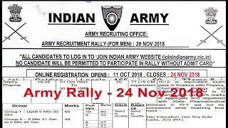24 Nov 2018 Soldier GD,Tradesman,Technical, Army Bharti Apply Online Indian army rally Uttar Pradesh