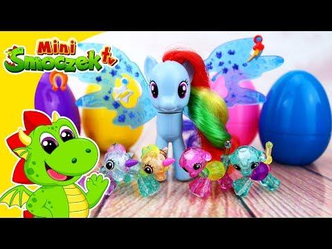 MLP Rainbow Dash i Twisty Petz Babies Jajka Niespodzianki Zabawki Bajki Dla Dzieci Po Polsku