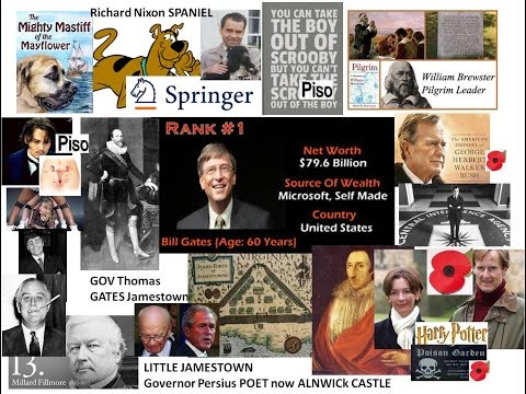 Bill Gates FDR Nixon Bush Kings & Queens of Eur murderous bloodlines OF the Mayflower & COLDPLAY