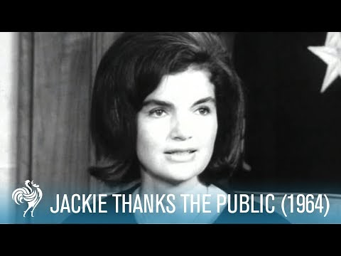 Jackie Kennedy: Thank You for Letters of Condolence (1964) | British Pathé