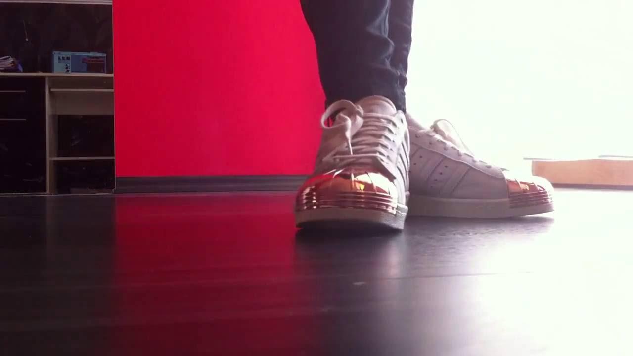 adidas superstar metallic red