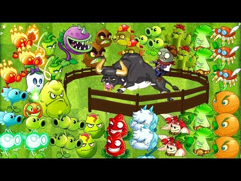Every Plant Power-Up! vs Rodeo Legend Zombie NEW Plants vs Zombies 2