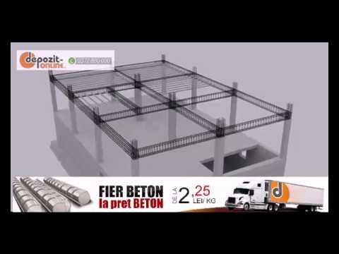 Constructie  cu armatura fier beton de la 2,25 lei per kg
