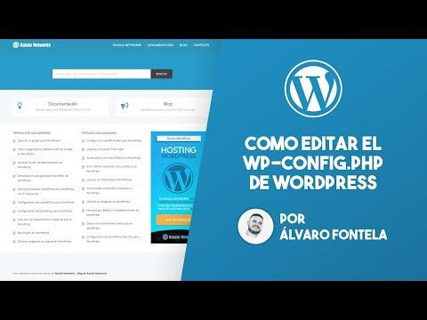 Como editar el archivo wp-config.php de WordPress