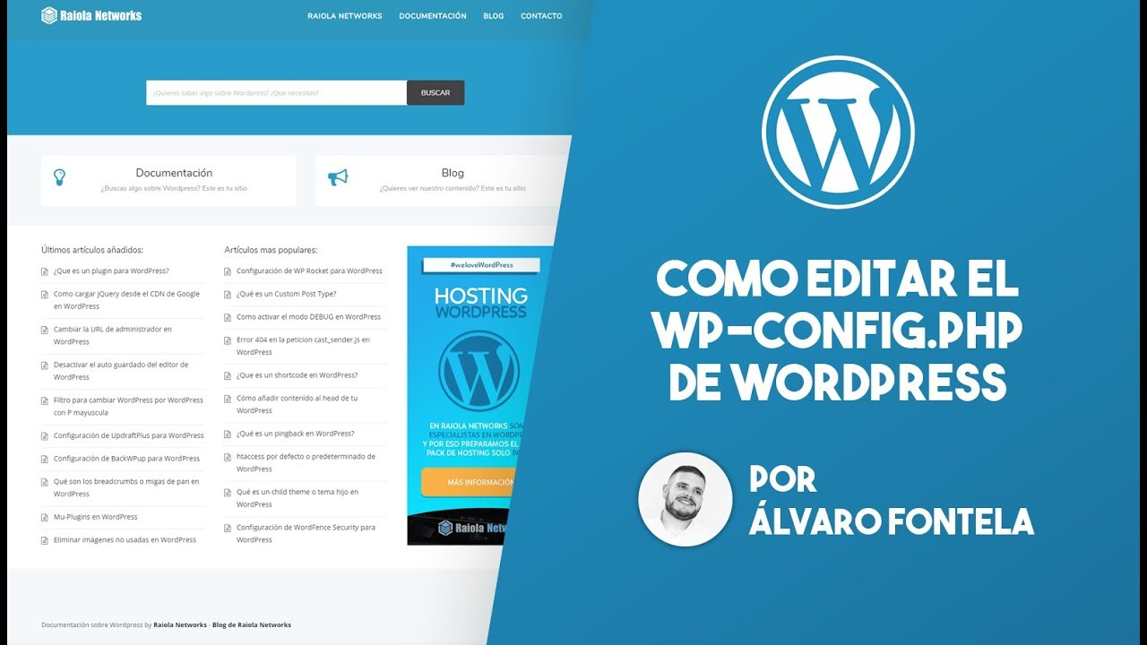 Como editar el archivo wp-config.php de WordPress - YouTube