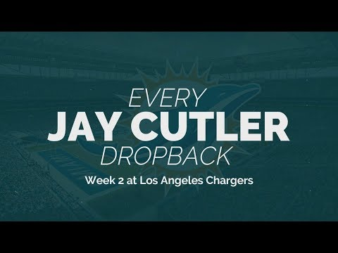 Every Jay Cutler Dropback - Week 2 at Los Angeles Chargers