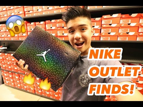 I CAN'T BELIEVE THEY HAD THEM, I BOUGHT 4 PAIRS!! Trip To The Nike Outlet!!