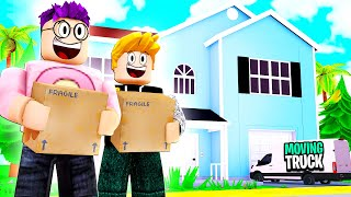 Can We MOVE IN With BEST FRIEND In Roblox BROOKHAVEN!? (SET HOUSE ON FIRE!)