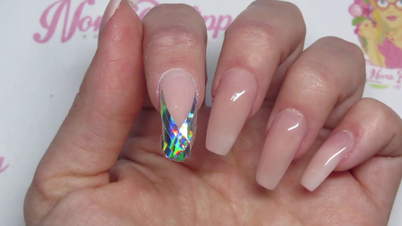 Holographic Mermaid Tape Nails Demo Review