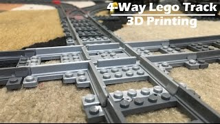 3D Printing #17 - 4-Way Lego Train Track Intersection - Ultimaker 3