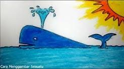 Cara Menggambar Dan Mewarnai Ikan Hiu Dan Pemandangan Bawah Laut
