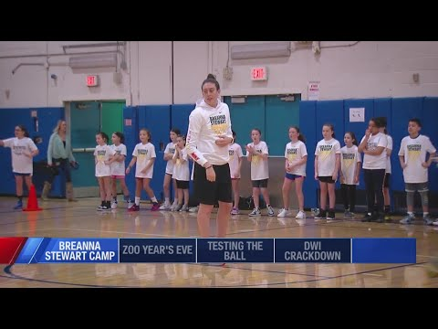 WNBA star Breanna Stewart visits North Syracuse Junior High School for first basketball camp