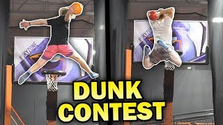 INSANE BASKETBALL TRAMPOLINE  DUNK CONTEST vs TRISTAN JASS!